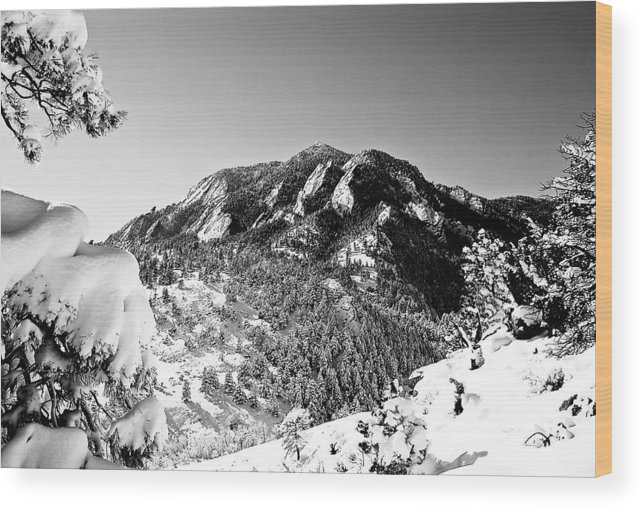 Landscape Wood Print featuring the photograph Bear Peak by Karl Manteuffel