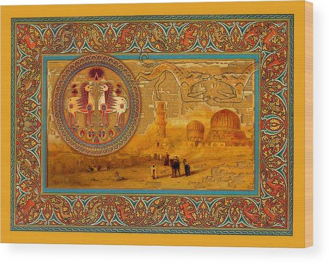 Digital Wood Print featuring the digital art Cairo Then by Frank Vigneri