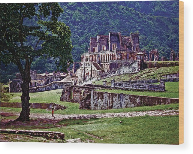 Haiti Wood Print featuring the photograph Cap-haitien Haiti - Sans Souci Palace by Johnny Sandaire