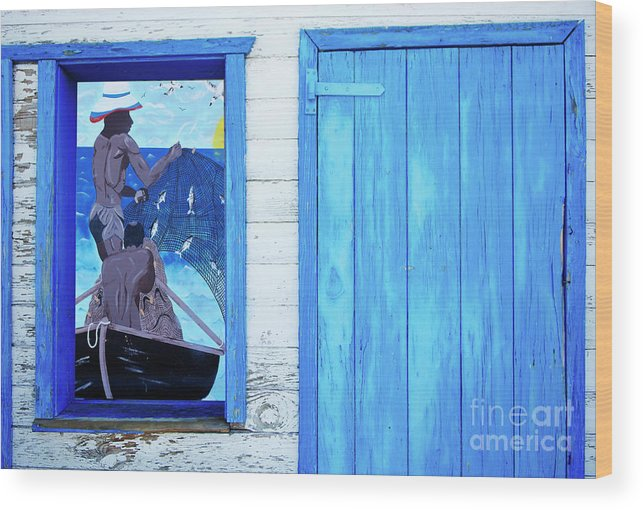 Caribbean Wood Print featuring the photograph Caribbean Blues by Bob Christopher