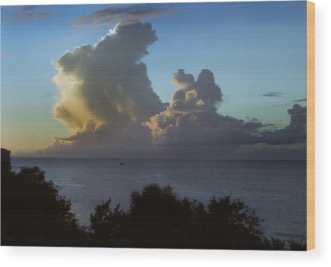 Clouds Wood Print featuring the photograph Caribbean Clouds by Terence Davis