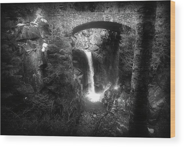 Water Fall Prints Wood Print featuring the photograph Christine Falls by Greg Farley