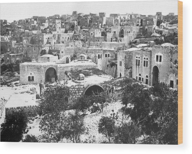Bethlehem Wood Print featuring the photograph City Of David Bethlehem by Munir Alawi