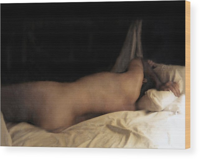 Nude Wood Print featuring the photograph Cowboy Dreaming by RC DeWinter