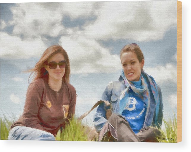 Canadian Wood Print featuring the painting Daughters by Jeffrey Kolker