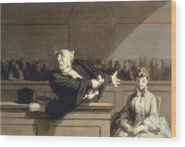 1860 Wood Print featuring the photograph Daumier: Advocate, 1860 by Granger
