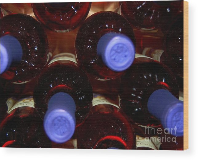 Wine Wood Print featuring the photograph De-vine Wine by Debbi Granruth