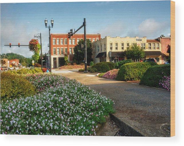 Murphy Wood Print featuring the photograph Downtown Murphy North Carolina by Greg Mimbs