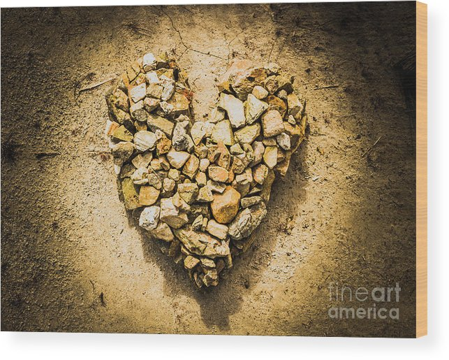 Heart Wood Print featuring the photograph Earthly Togetherness by Jorgo Photography - Wall Art Gallery