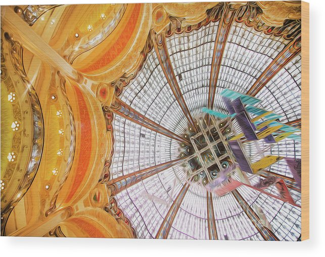 Galeries Lafayette Wood Print featuring the photograph Galeries Lafayette Inside 3 Art by Alex Art and Photo