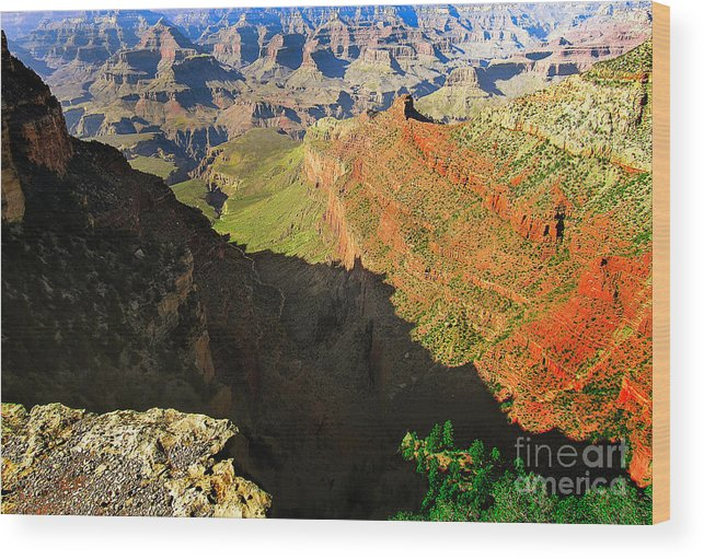 Sunrise Wood Print featuring the photograph Grand Canyon 4 by Mim White