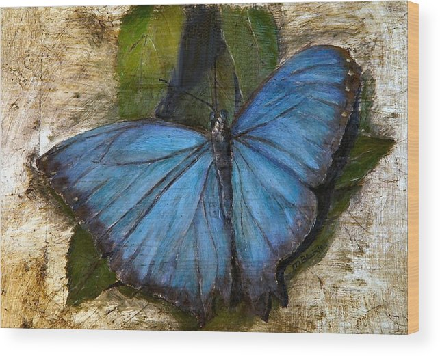 Butterfly Wood Print featuring the painting Jewel Of The Garden by Merle Blair