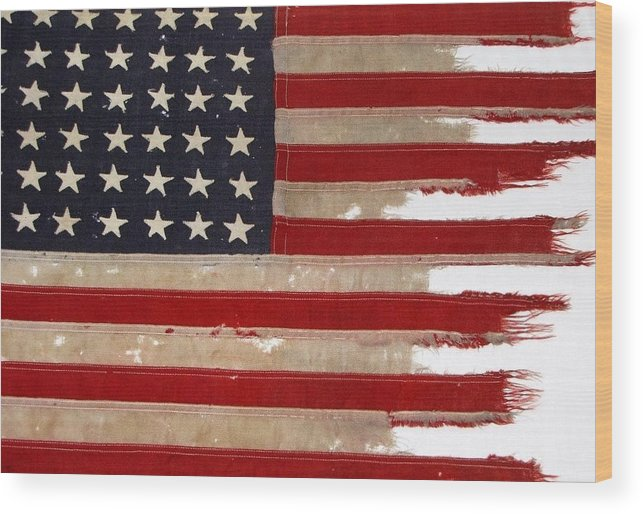 Flag Wood Print featuring the photograph Jfk's Pt-109 Flag by Lori Pessin Lafargue