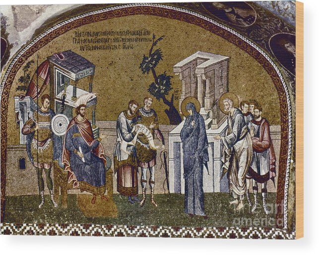 14th Century Wood Print featuring the photograph Joseph And Mary by Granger