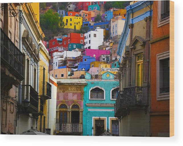Architecture Wood Print featuring the photograph Juegos In Guanajuato by Skip Hunt