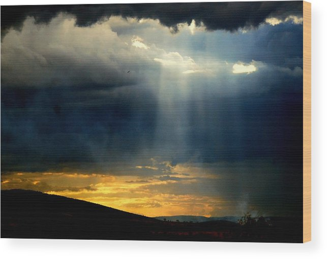 Landscape Wood Print featuring the photograph Lightbeam by Apurva Madia