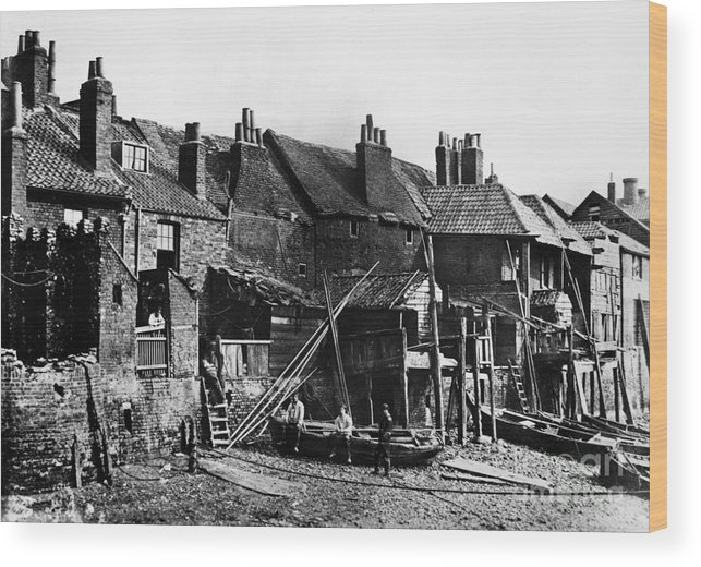 1860 Wood Print featuring the photograph London: Riverside, C1860 by Granger
