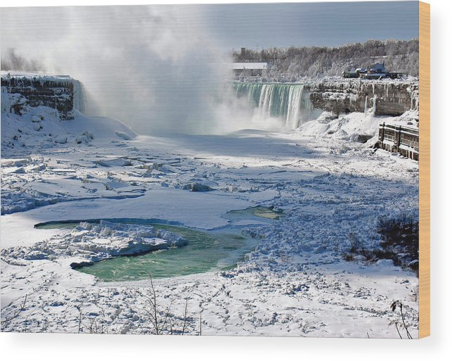 Niagara Falls Frozen Wood Print featuring the photograph Niagara Falls Frozen II by J R Baldini Master Photographer