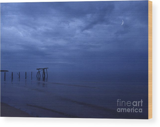 Pier Wood Print featuring the photograph Old Fishing Pier by Timothy Johnson