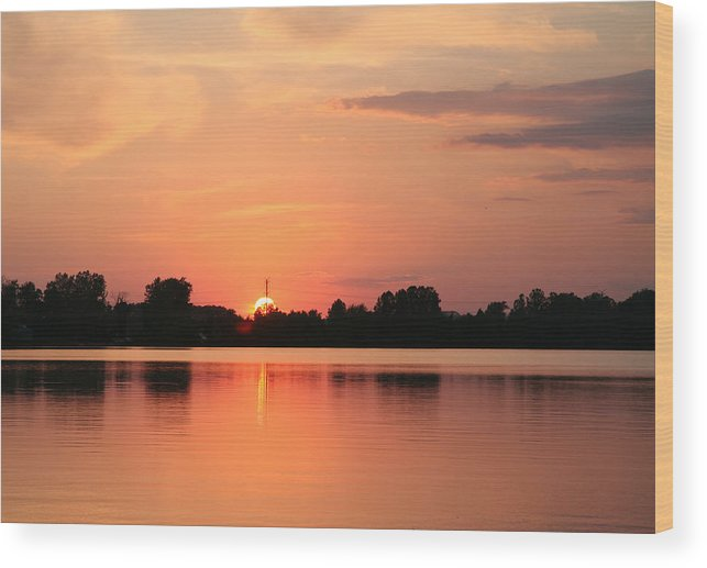 Sunset Wood Print featuring the photograph On Fire by Deborah Molitoris