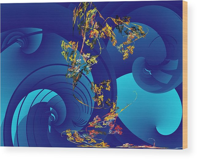 Fantasy Wood Print featuring the digital art Orphaned by David Lane