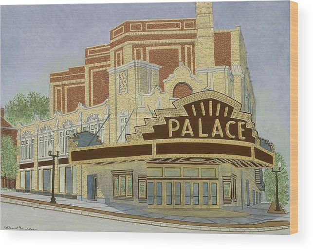 Theater Wood Print featuring the painting Palace Theatre by David Hinchen