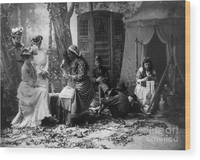 1902 Wood Print featuring the photograph Palm Reading, C1902 by Granger