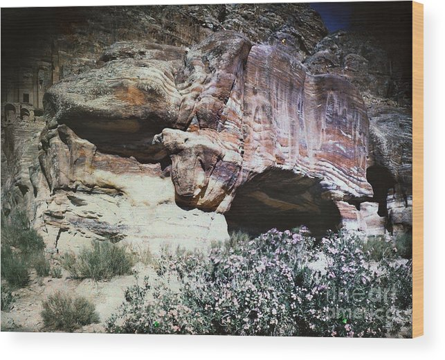 1939 Wood Print featuring the photograph Petra, Transjordan: Cave by Granger