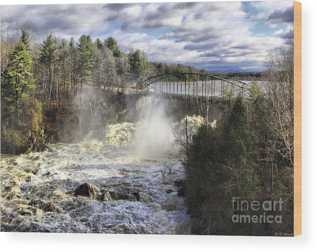 Falls Wood Print featuring the photograph Raging Water by Deborah Benoit