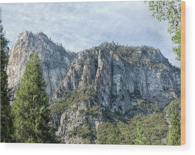 Landscape Wood Print featuring the photograph Rugged Valley Walls by John M Bailey