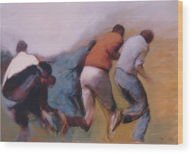 Apartheid Wood Print featuring the painting S African Series II by James LeGros