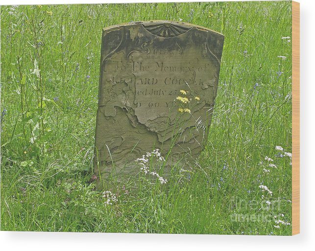 Tombstone Wood Print featuring the photograph Sacred Memory by Ann Horn