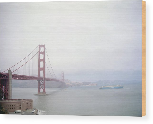 San Francisco Bay Wood Print featuring the photograph San Francisco Shipping by Steve Ohlsen