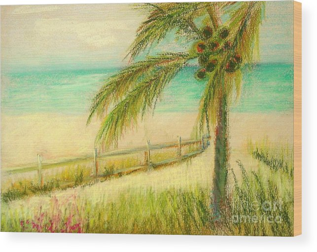 Landscape Wood Print featuring the painting Sanibel Breeze      Copyrighted by Kathleen Hoekstra