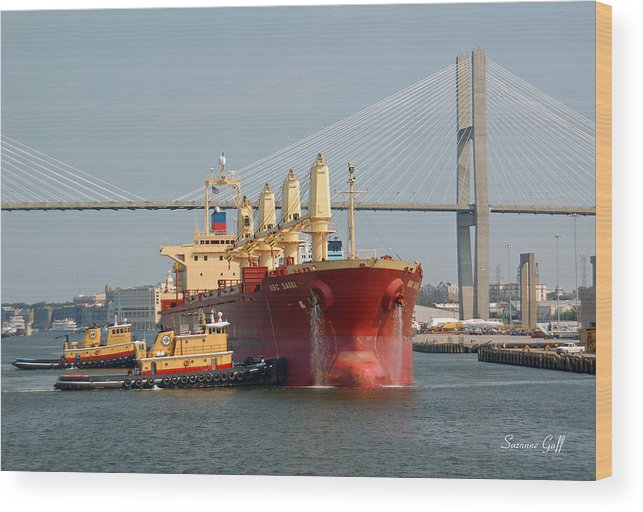 Savannah River Wood Print featuring the photograph Savannah River Scenic by Suzanne Gaff
