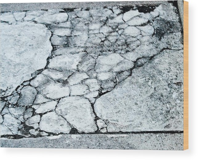Torso Wood Print featuring the digital art Sidewalk Torso by John Toxey
