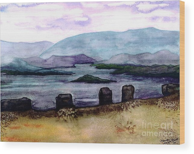 Original Painting Wood Print featuring the painting Silent Sentinels by Patricia Griffin Brett