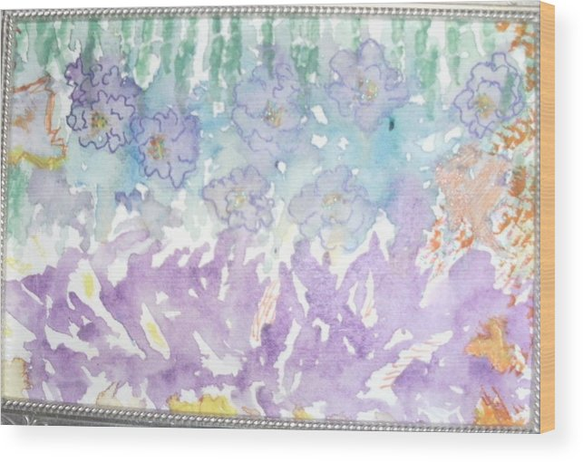 Soft Wood Print featuring the painting Soft And Pretty by Anne-Elizabeth Whiteway