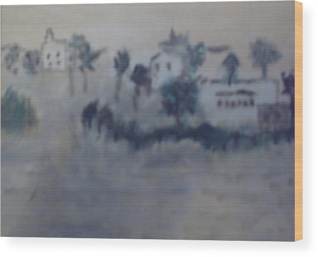 Beach Wood Print featuring the painting South Beach by Nancy Graham
