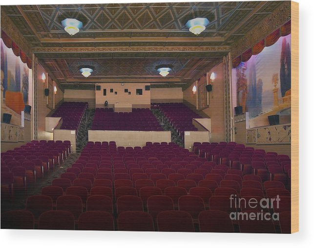 Kansas Wood Print featuring the photograph Stage View by Fred Lassmann