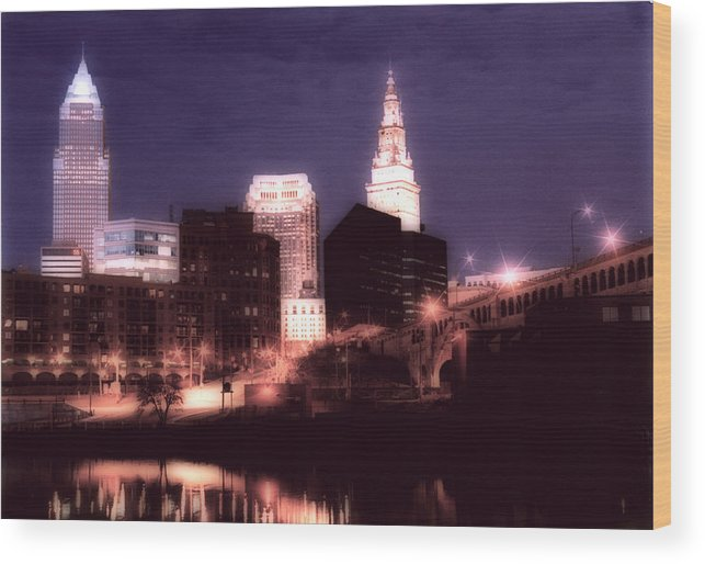 Cleveland Wood Print featuring the photograph Standing Tall by Kenneth Krolikowski