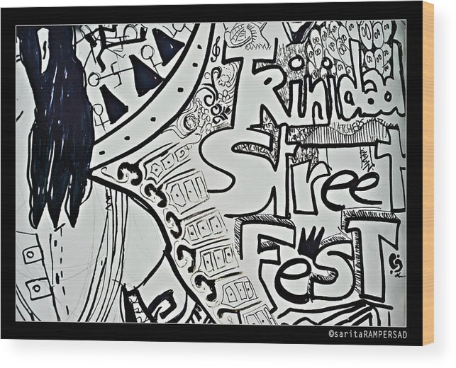 Trinidad Wood Print featuring the photograph Street Fest by Sarita Rampersad