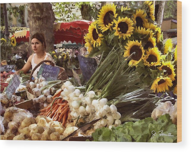 France Wood Print featuring the photograph Summer Market In Provence by Joe Bonita