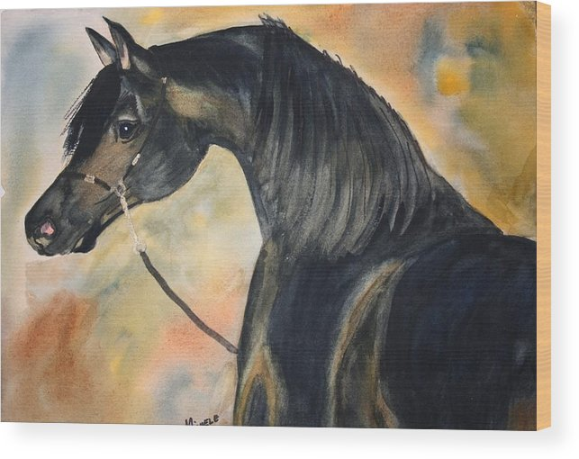 Horses Wood Print featuring the painting Sunlit Splendor by Michele Turney