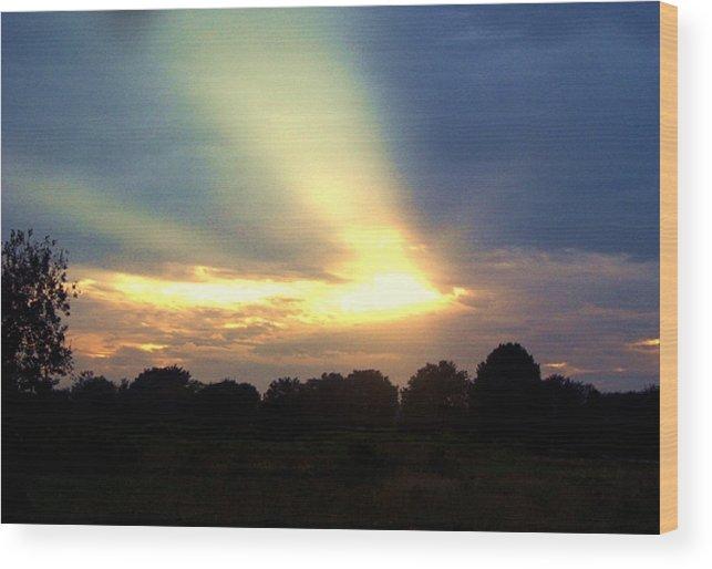 Sunset Wood Print featuring the photograph Sunset 3 by Heidi Kummer