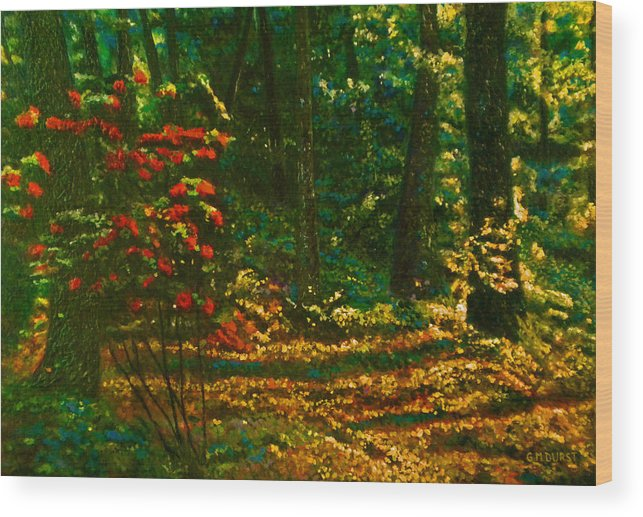 Sunset Wood Print featuring the painting Sunset Walk by Michael Durst