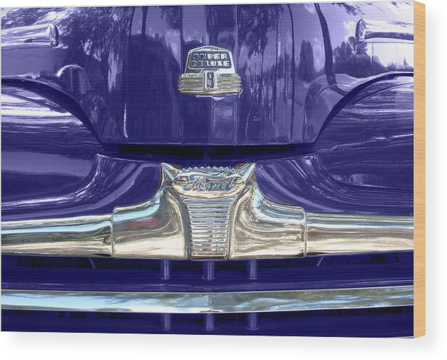 Ford Super Deluxe Wood Print featuring the photograph Super Deluxe Blue by Kurt Gustafson