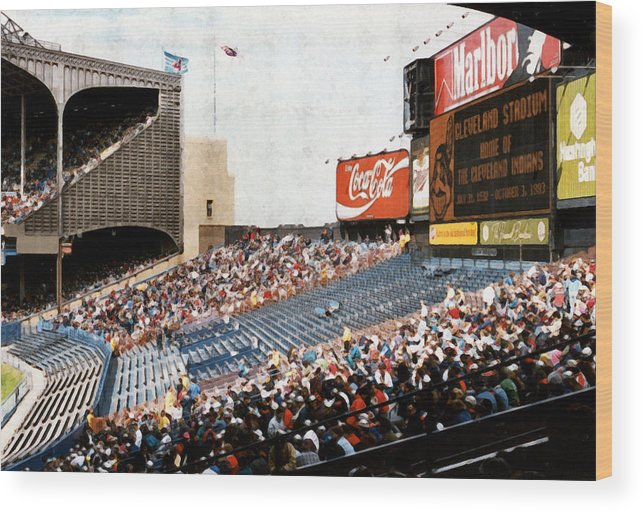 Cleveland Wood Print featuring the photograph The Grand Finale by Kenneth Krolikowski