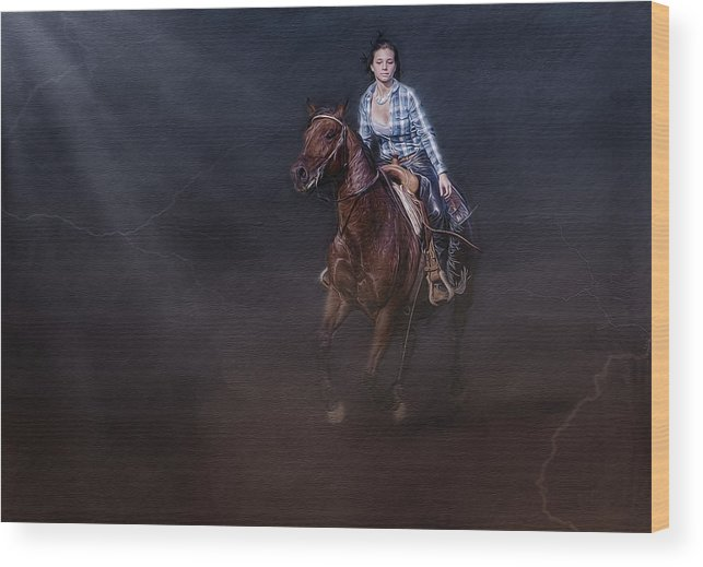 Animals Wood Print featuring the photograph The Great Escape by Susan Candelario