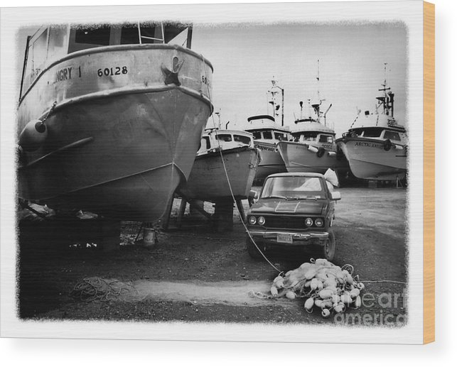 Alaska Wood Print featuring the photograph The Real Alaska - Dry Dock 1 by Pete Hellmann